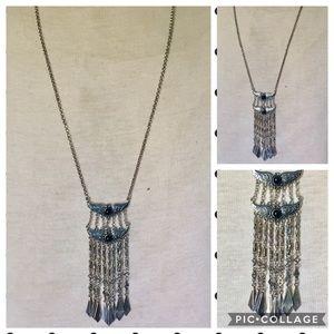 Jewelry - Silver boho long Tassel necklace